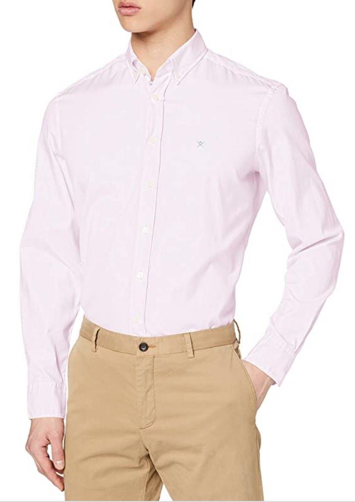 Camisa hackett de estilo ingles rosa