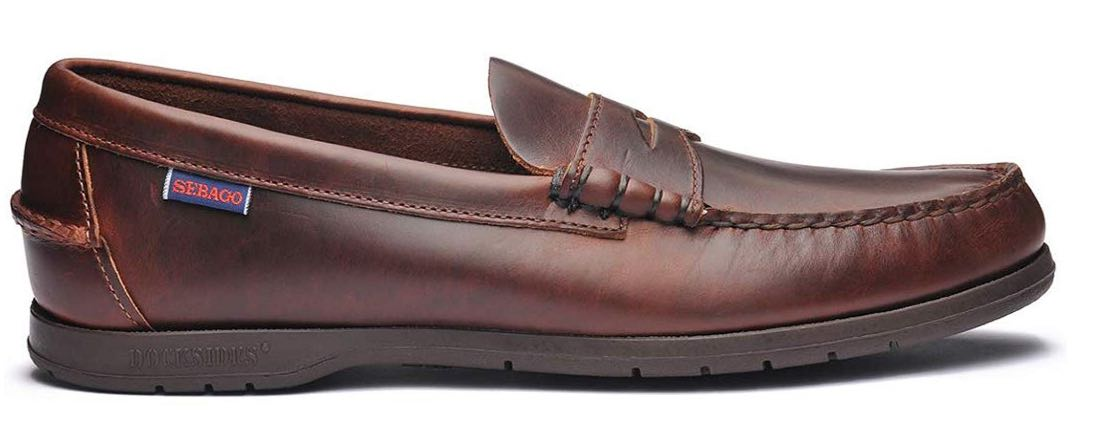 Sebago Men's Thetford Dark Leather Loafers de estilo inglés