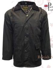 chaqueta Caza Encerada de estilo inglés.