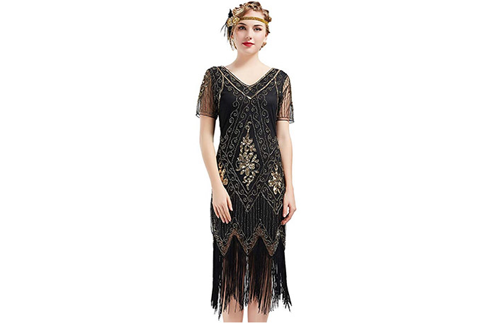 Vestido de fiesta de estilo inglés años 20