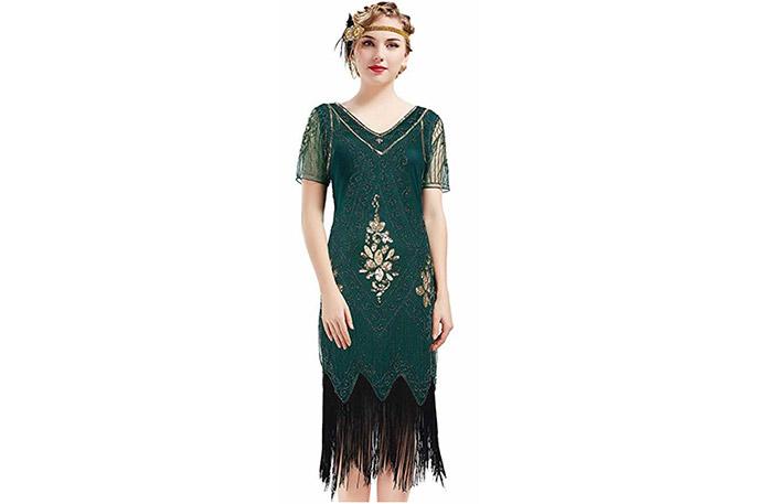 ArtiDeco 1920s verde de estilo inglés