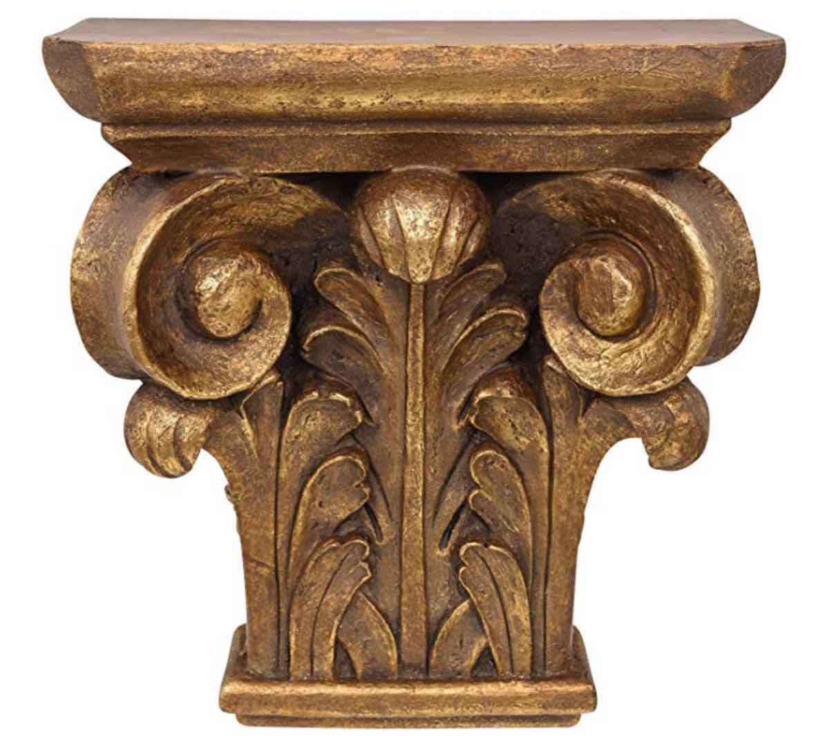 Aubaho Consola ménsula estantería Consola de Pared Oro Estilo Antiguo estilo inglés