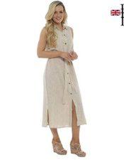 Vestido de Lino de Verano de estilo inglés